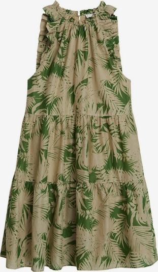 MANGO Kleid in beige / grün, Produktansicht