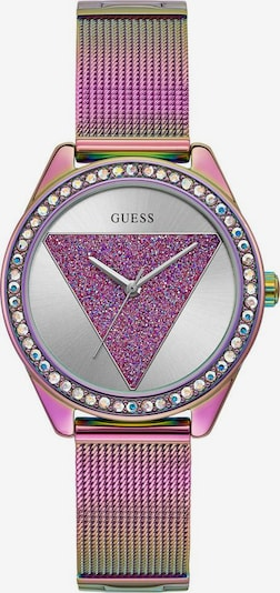 GUESS Analog watch 'TRI' in rose gold / mauve / light purple / white, Item view