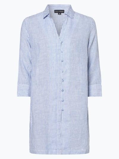 Franco Callegari Bluse in rauchblau / weiß, Produktansicht
