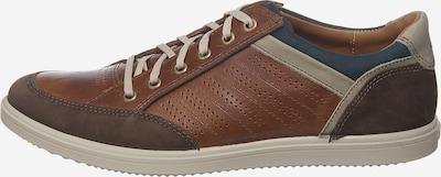 JOMOS Sneaker in beige / dunkelblau / braun, Produktansicht