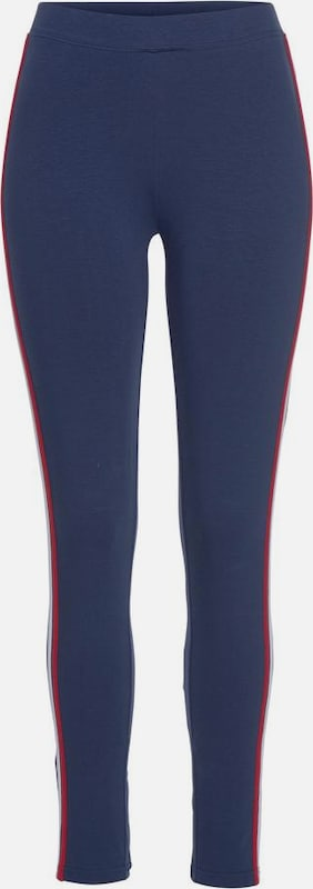 HIS JEANS Leggings in navy / rot, Produktansicht