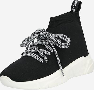 fekete / fehér Love Moschino Magas szárú edzőcipők, Termék nézet