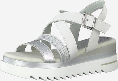 MARCO TOZZI Sandale in silber / weiß, Produktansicht