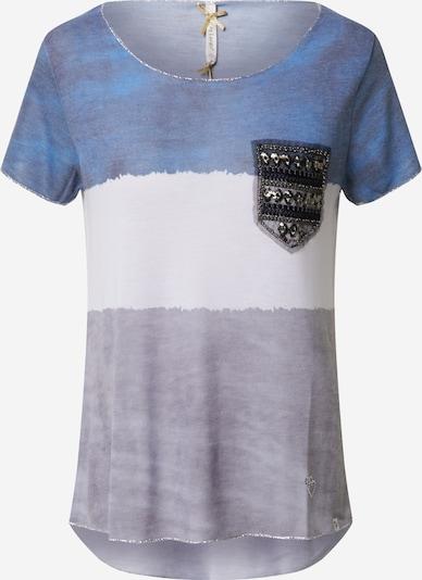 Key Largo Shirt 'KARMA' in de kleur Smoky blue / Zwart / Wit, Productweergave