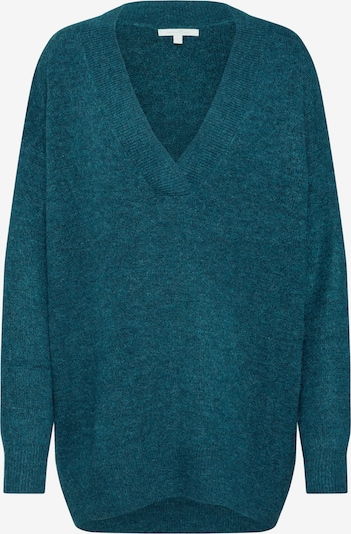 TOM TAILOR DENIM Pullover 'long v-neck pullover 1/1' in blau, Produktansicht