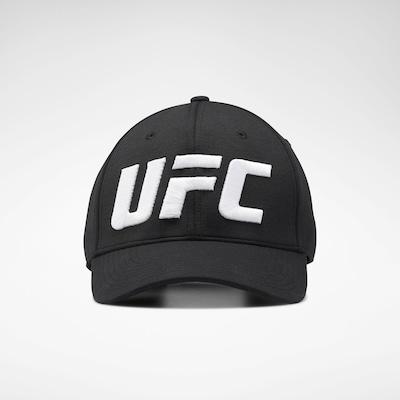 REEBOK Sportpet 'UFC' in de kleur Zwart / Wit, Productweergave