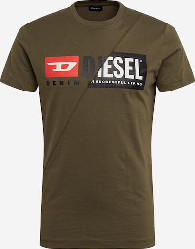 DIESEL Shirt 'T-DIEGO-CUTY' in khaki, Produktansicht