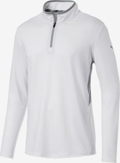 PUMA Sportsweatshirt 'Rotation' in de kleur Grijs / Wit, Productweergave