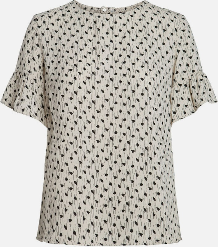 PIECES Bedruckte kurzärmelige Bluse