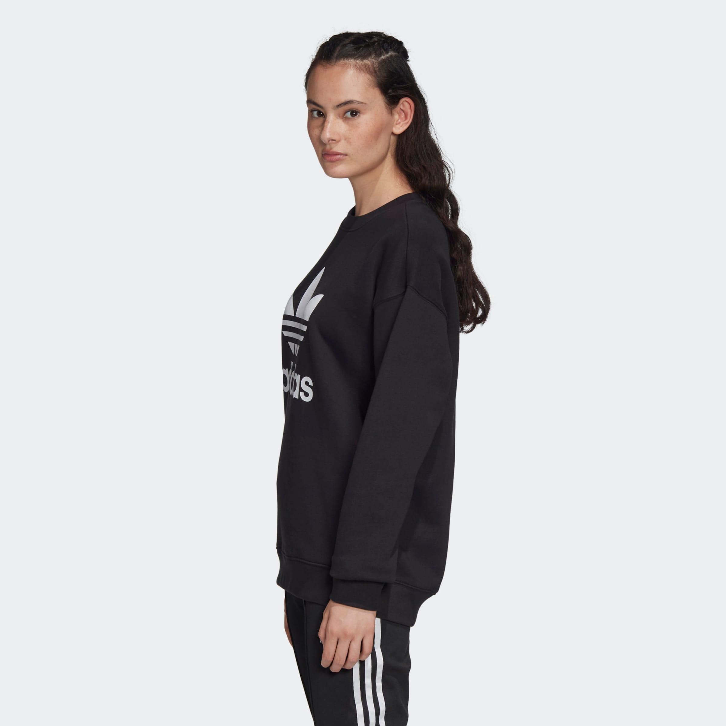 ADIDAS ORIGINALS Sweatshirt i svart / vit
