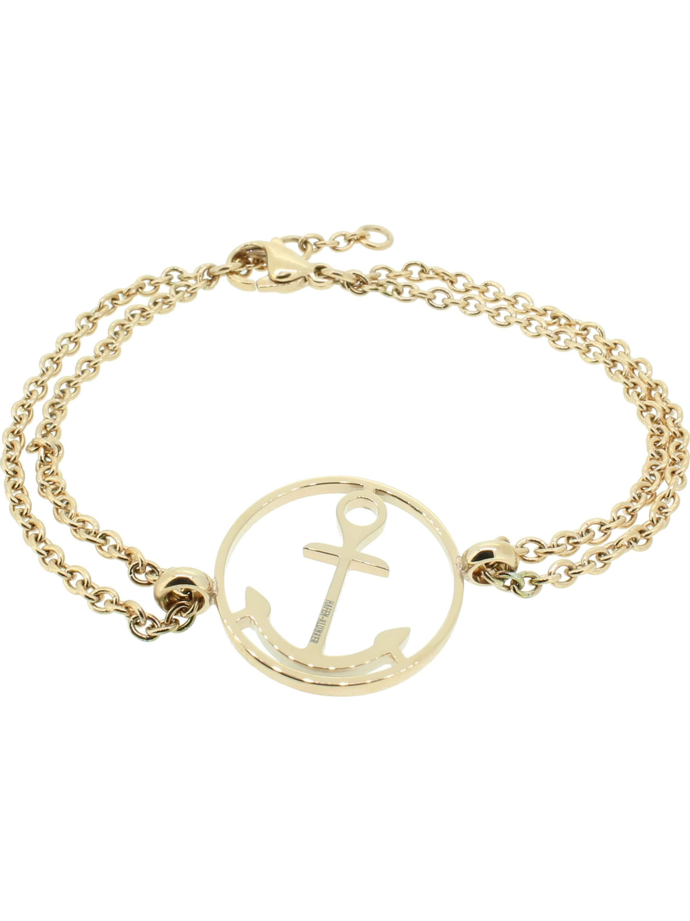 Gold Armband 'anker' In Hafen klunker 76gvYbfy