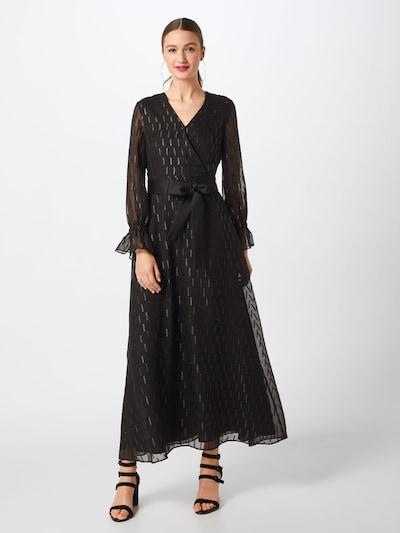 Banana Republic Kleid 'I FAUX WRAP SHIMMER MAXI DRESS' in schwarz, Modelansicht