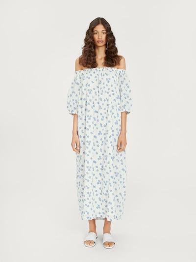 EDITED Kleid 'Rahima' in blau / weiß, Modelansicht