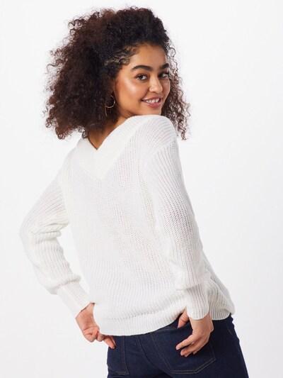 ONLY Sweter 'MELTON' w kolorze białym: Widok od tyłu