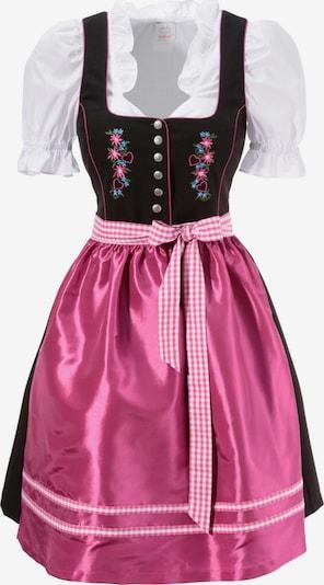 BERND NABER Dirndl 3tlg. in kastanienbraun / pink, Produktansicht