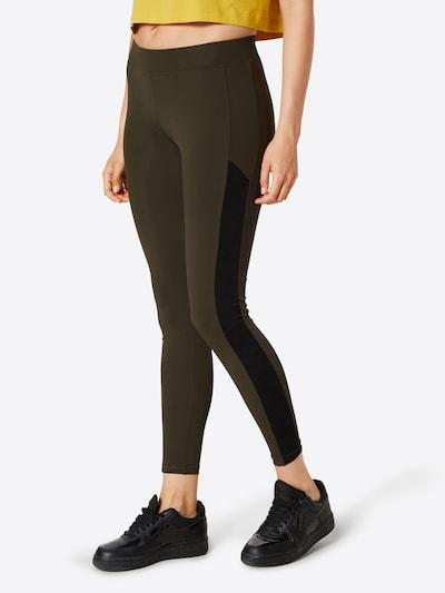 Urban Classics Leggings en olive / noir, Vue avec modèle