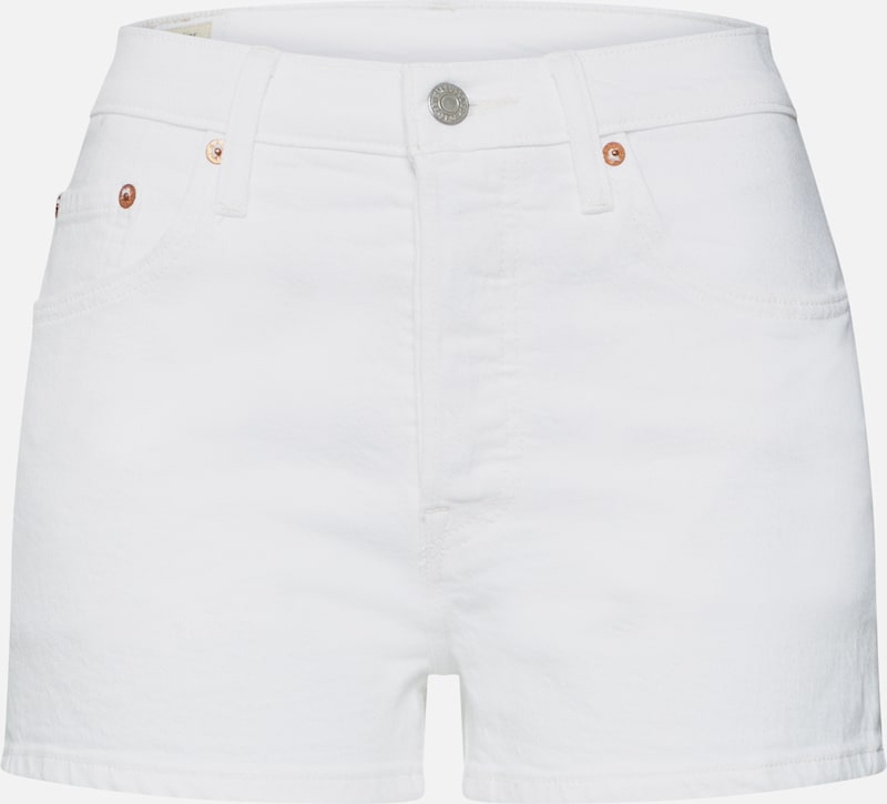 LEVI'S Shorts '501' in white denim, Produktansicht