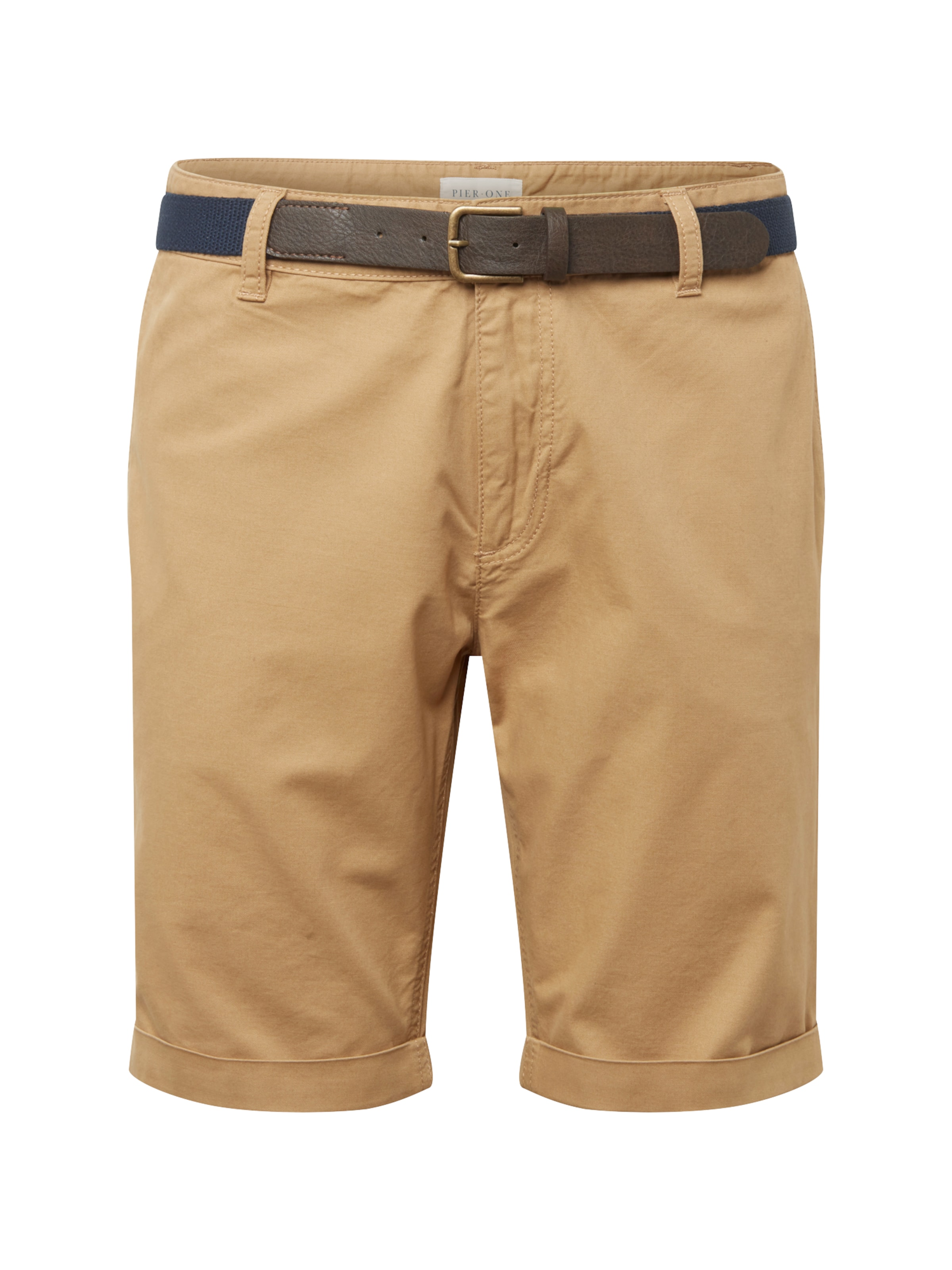 Short' 'belted One Beige Chino Pier Hose In gb76Yfyv
