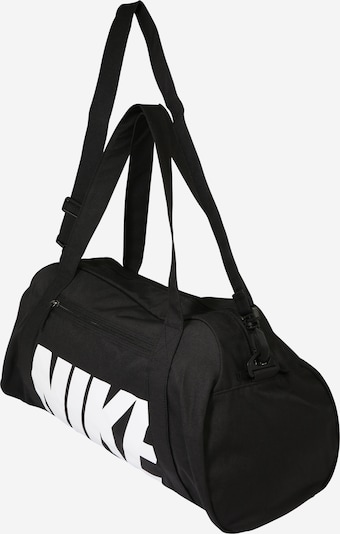 NIKE Sporttasche 'Gym Club' in schwarz / weiß: Seitenansicht