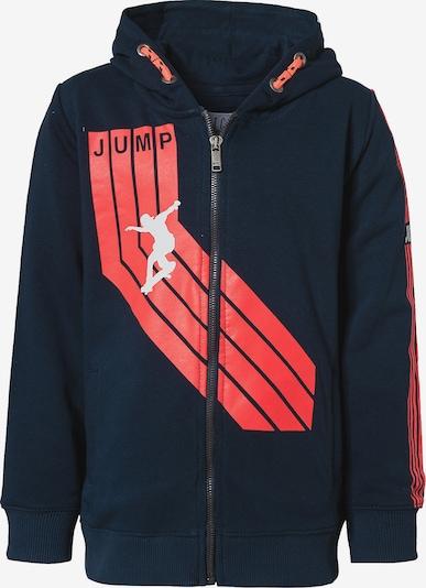 STACCATO Sweatjacke in dunkelblau / rot / weiß, Produktansicht
