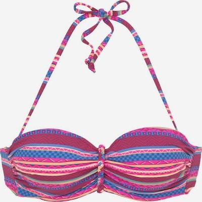 BUFFALO Bikini zgornji del | modra / fuksija / bordo barva, Prikaz izdelka