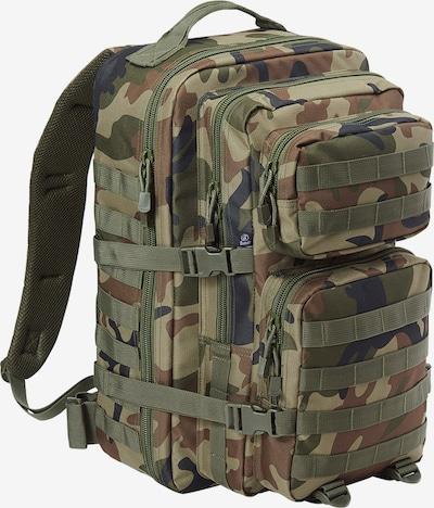 Brandit Rucksack in dunkelblau / braun / khaki / pastellgrün, Produktansicht