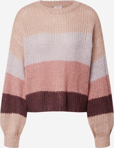 Cotton On Trui in de kleur Beige / Oudroze / Wijnrood / Wit: Vooraanzicht