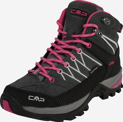 CMP Boots 'RIGEL MID' in de kleur Grijs / Fuchsia / Zwart, Productweergave