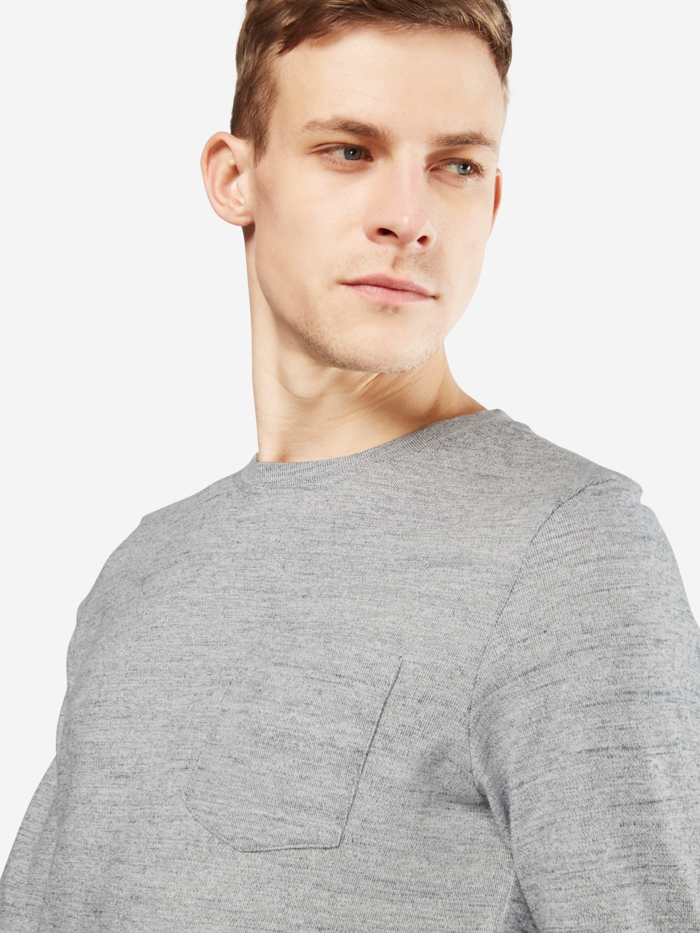 JACK & JONES Shirt 'JCOOZIL TEE LS CREW NECK NOOS' Großer Verkauf Online Kaufen Authentisch Freies Verschiffen Wiki Outlet Kaufen XXlHj