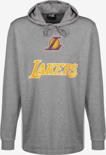 NEW ERA Hoodie ' NBA Contrast PL Angeles Lakers ' in gelb / grau / lila, Produktansicht