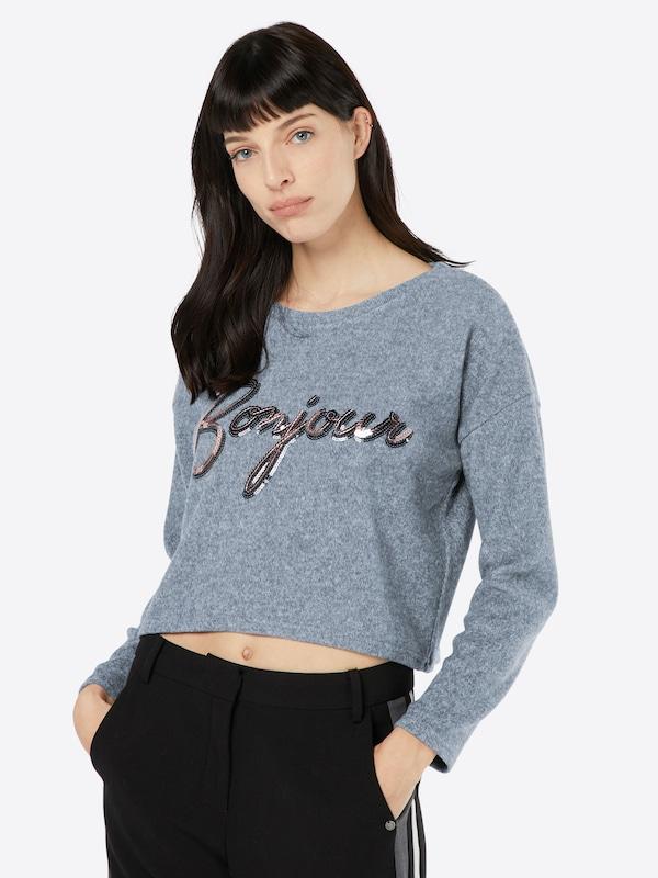 NEW LOOK Pullover 'C+S BONJOUR SEQUIN SWEAT'