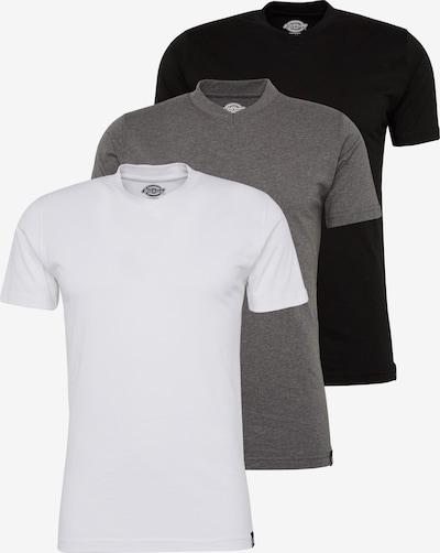 DICKIES Majica 'V-Neck MC TSht Pk' | siva / črna / bela barva, Prikaz izdelka