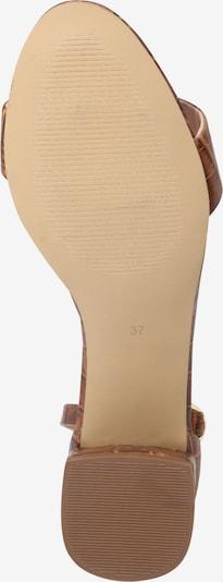 ABOUT YOU Sandales 'Alissa' en marron: Vue de dessous