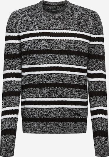 Only & Sons Pullover in grau / schwarz / weiß, Produktansicht