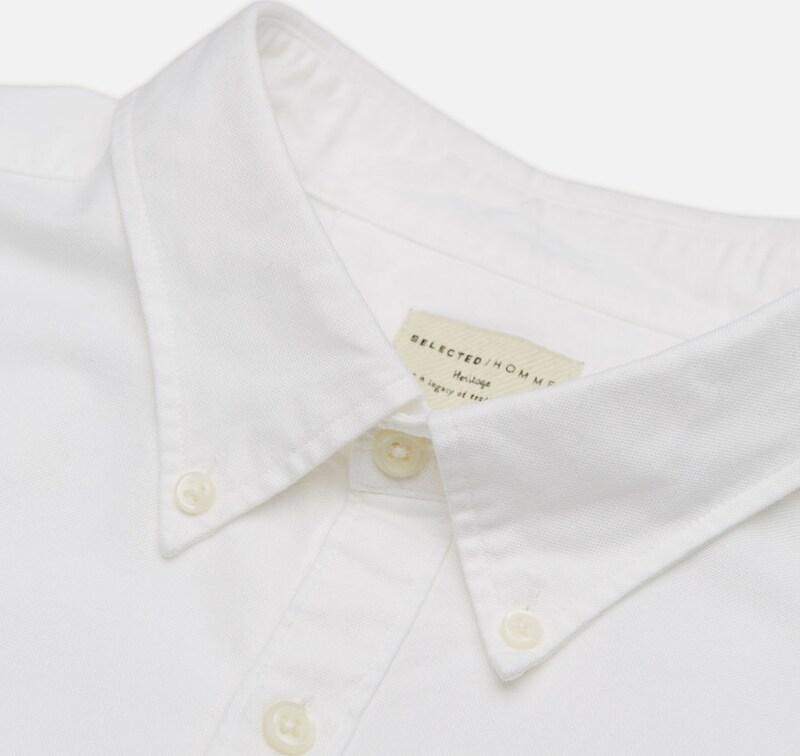 Homme Sélectionné Oxford -langarmhemd
