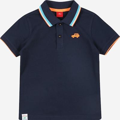 s.Oliver Shirt in marine / hellblau / gelb / weiß, Produktansicht