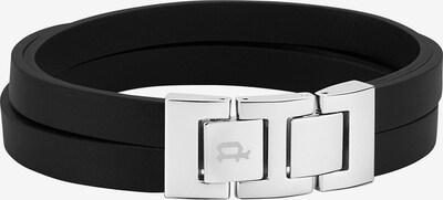 POLICE Armband 'ANCOATS' in schwarz / silber, Produktansicht