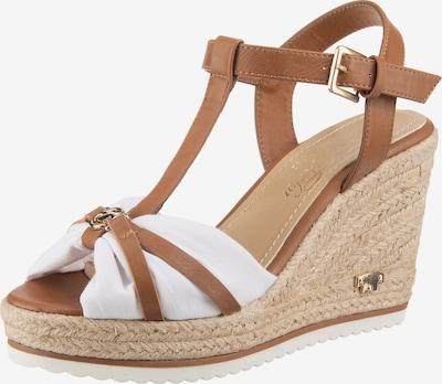 TOM TAILOR Páskové sandály - nažloutlá / bílá, Produkt