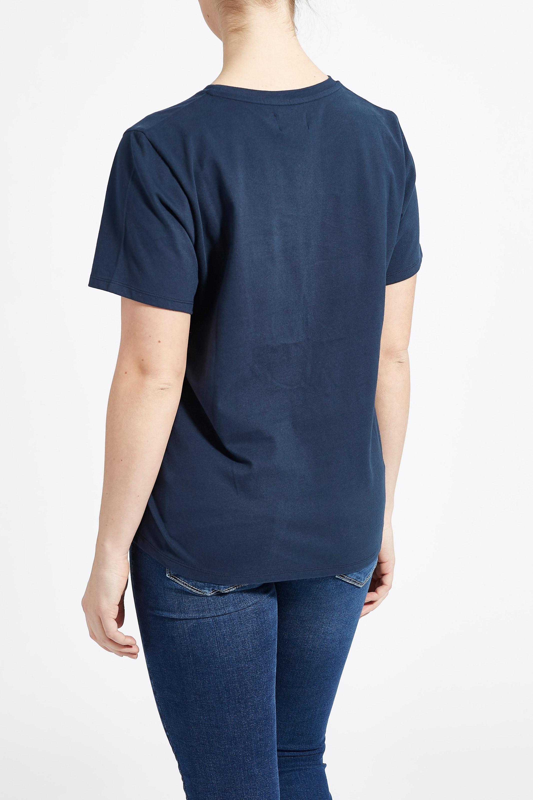 In T 'lovely Heart' Laurie shirt Navy ED2H9I