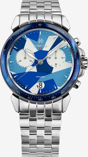 JOWISSA Quarzuhr 'LeWy 15' Swiss Men's Watch in blau / silber / weiß, Produktansicht