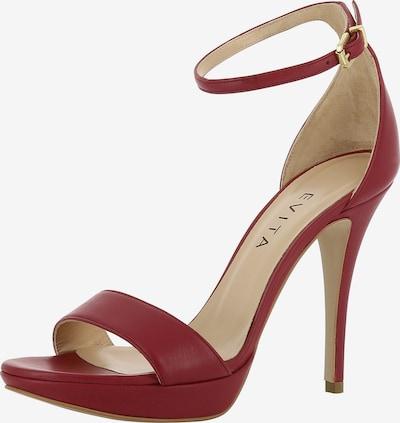 EVITA Sandalette 'VALERIA' in bordeaux, Produktansicht