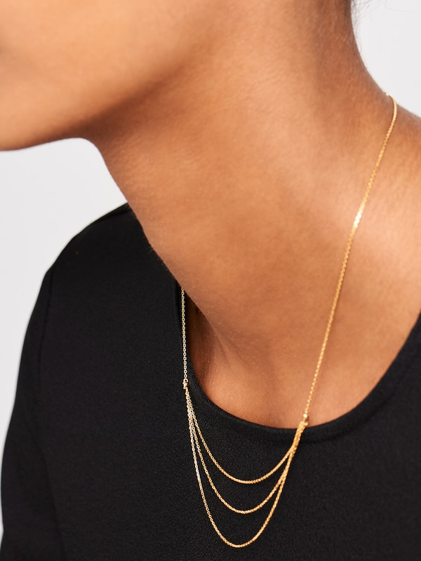 P D PAOLA Kette 'CO NIA' in gold: Frontalansicht