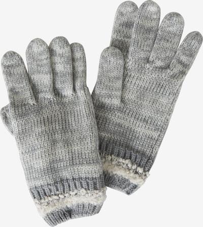 Cartoon Vingerhandschoenen in de kleur Grijs / Wit, Productweergave