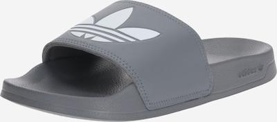ADIDAS ORIGINALS Pantolette 'ADILETTE LITE' in grau / weiß: Frontalansicht