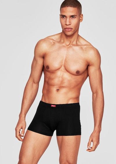 s.Oliver Boxershorts in schwarz, Modelansicht
