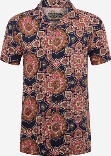 Urban Threads Hemd 'Viscose Woven Shirt' in dunkelblau / rot, Produktansicht