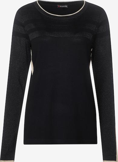 STREET ONE Pullover in schwarz / wollweiß, Produktansicht