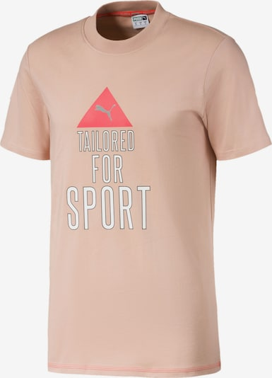 PUMA T-Shirt in pink / altrosa / weiß, Produktansicht