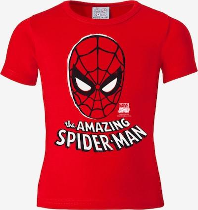LOGOSHIRT T-Shirt 'Spider-Man' in rot / schwarz / weiß, Produktansicht