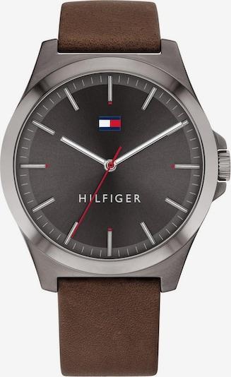 TOMMY HILFIGER Uhr in braun / schwarz / silber, Produktansicht